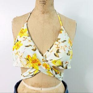 CUPSHE Floral Wrap Around Bikini Top NWOT